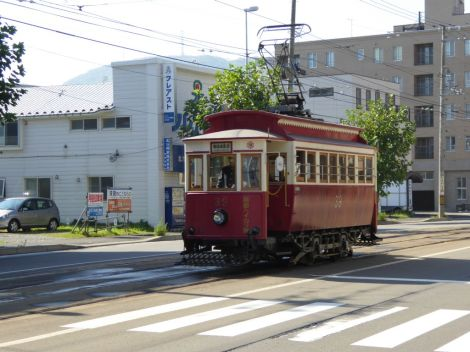 A vintage tram dating back to 1910 in Hakodate